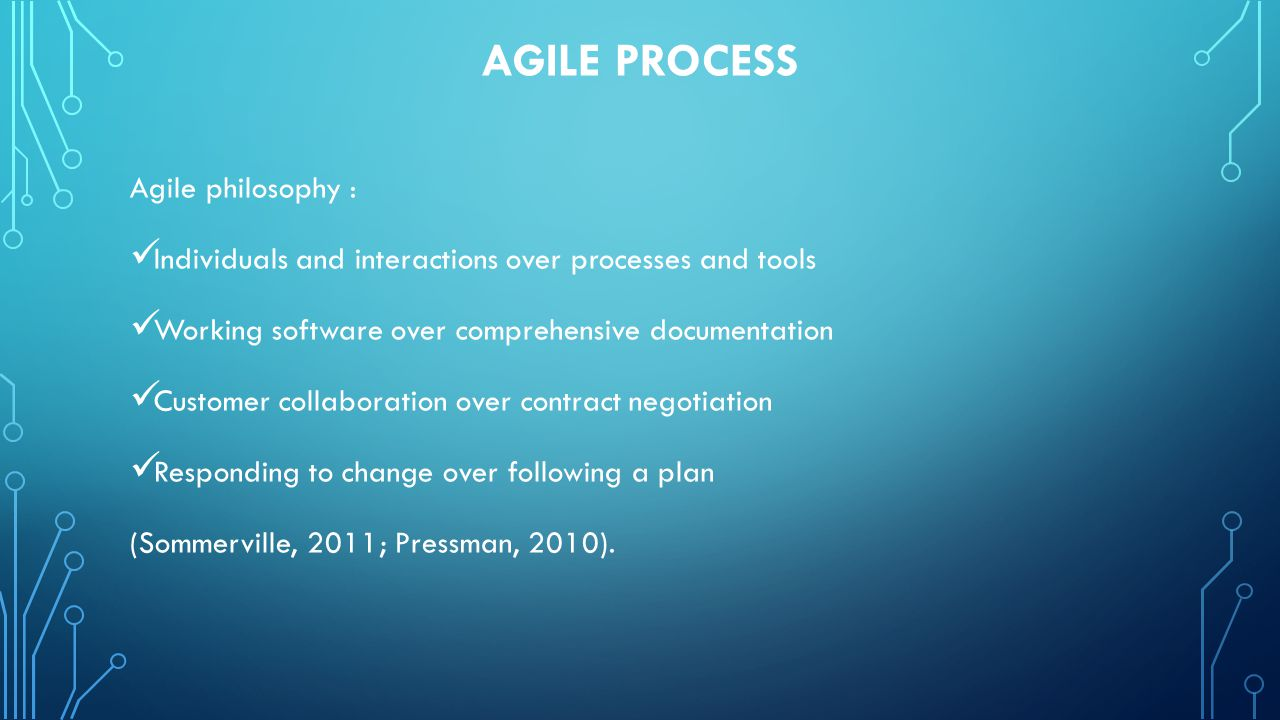 AGILe process Agile philosophy :