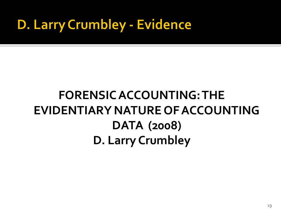 D. Larry Crumbley - Evidence