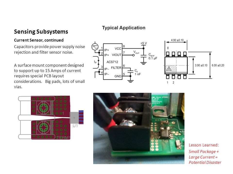 Sensing Subsystems Current Sensor, continued