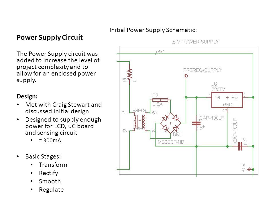 Power Supply Circuit Initial Power Supply Schematic:
