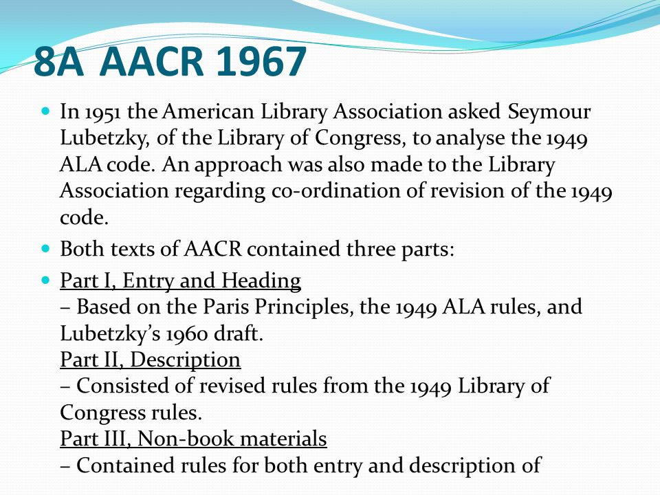 8A AACR 1967