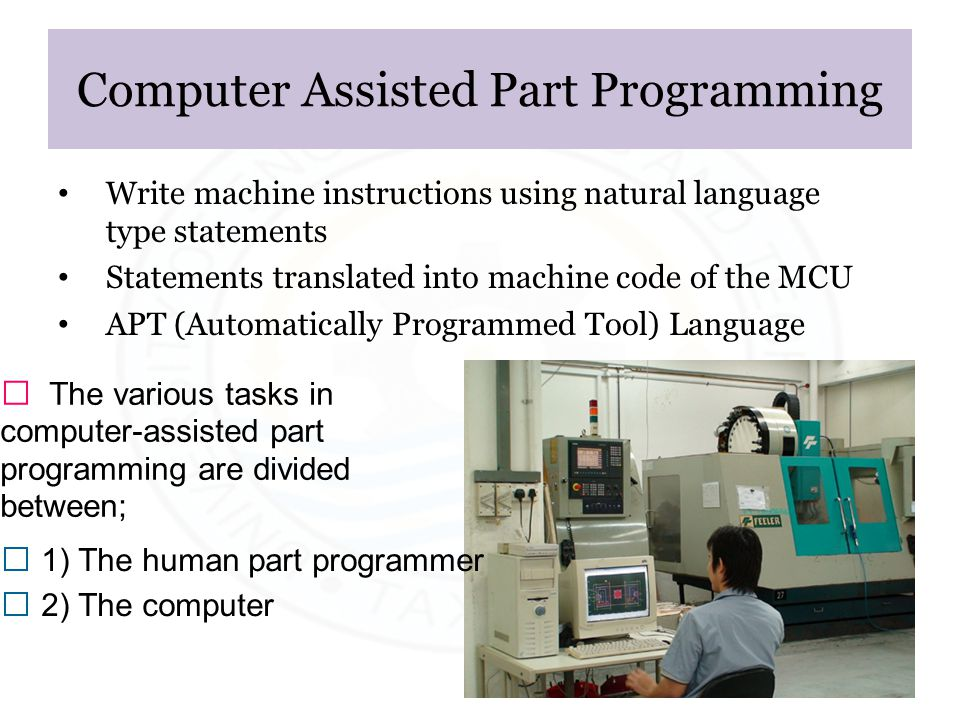 Computer Assisted Part Programming