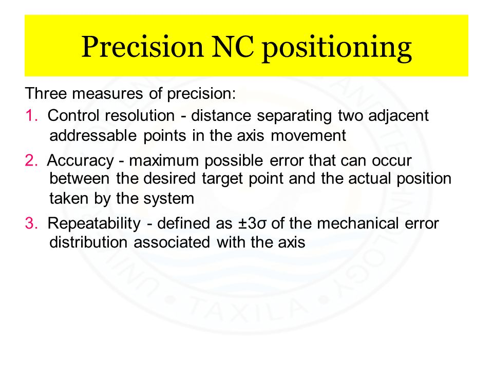 Precision NC positioning