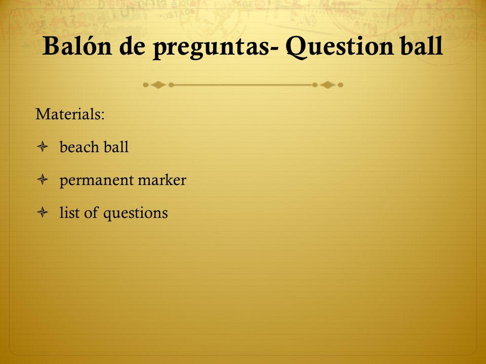 Balón de preguntas- Question ball
