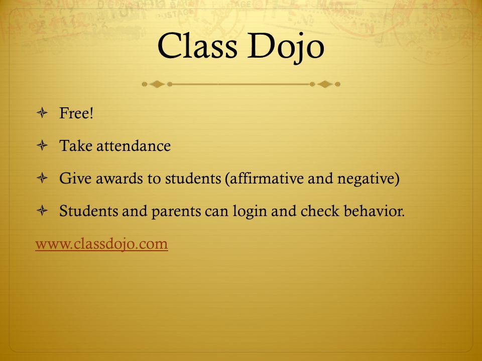 Class Dojo Free! Take attendance