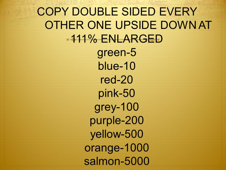 COPY DOUBLE SIDED EVERY