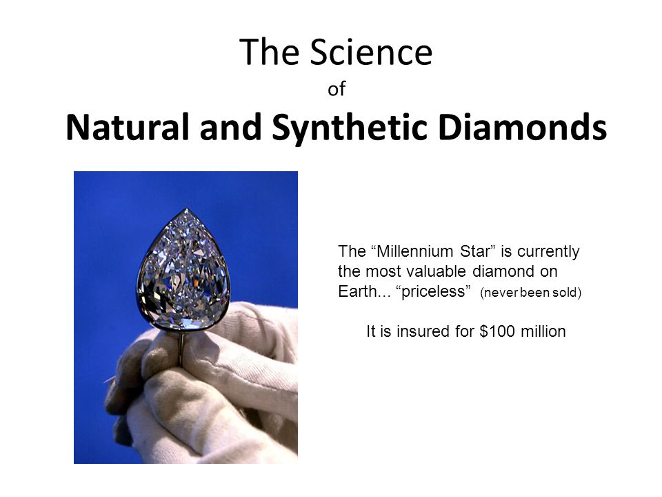 The Science of Natural and Synthetic Diamonds