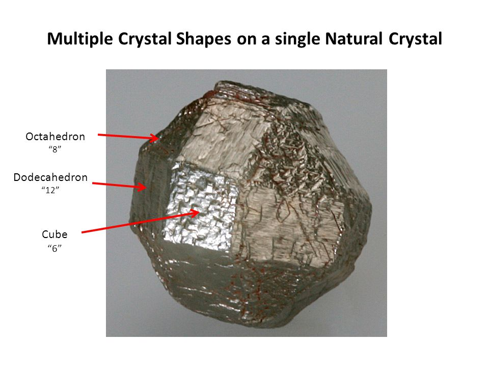 Multiple Crystal Shapes on a single Natural Crystal