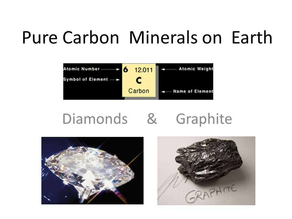 Pure Carbon Minerals on Earth