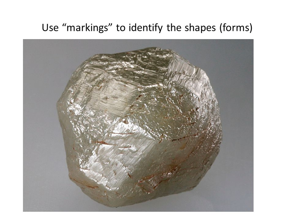 Use markings to identify the shapes (forms)