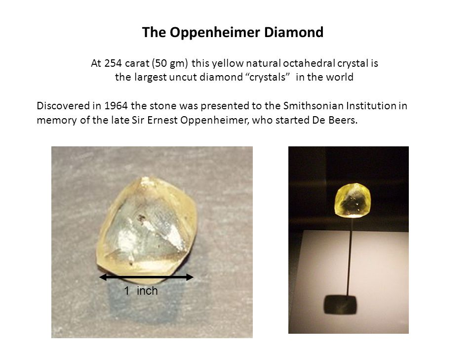 The Oppenheimer Diamond