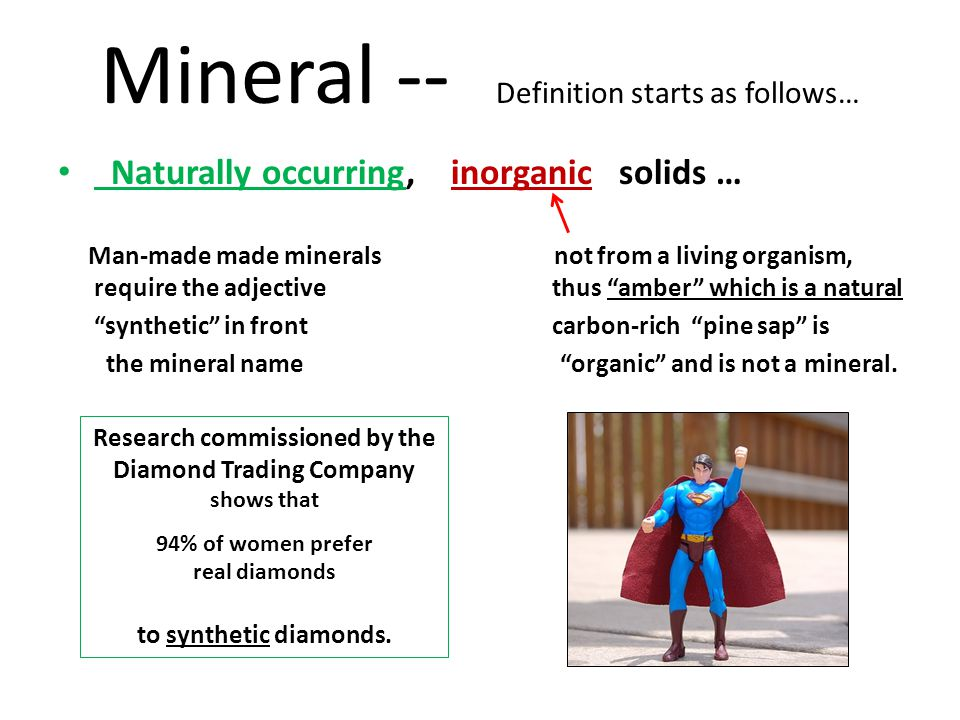 Mineral -- Definition starts as follows…