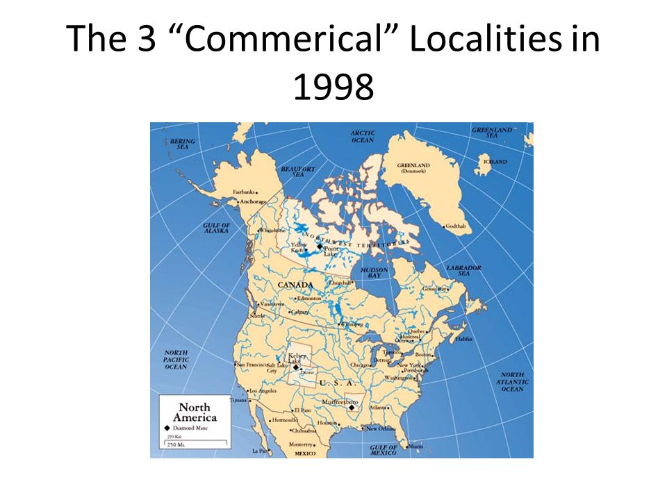 The 3 Commerical Localities in 1998