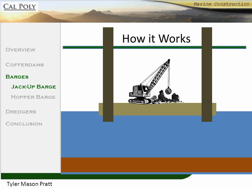 How it Works Tyler Mason Pratt Overview Cofferdams Barges