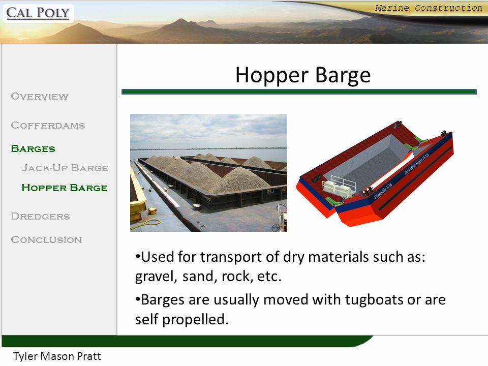 Marine Construction Hopper Barge. Overview. Cofferdams. Barges. Jack-Up Barge. Hopper Barge. Dredgers.