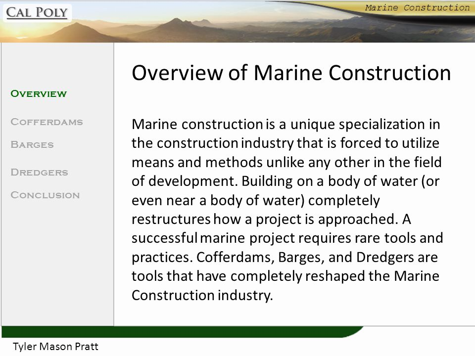 Overview of Marine Construction