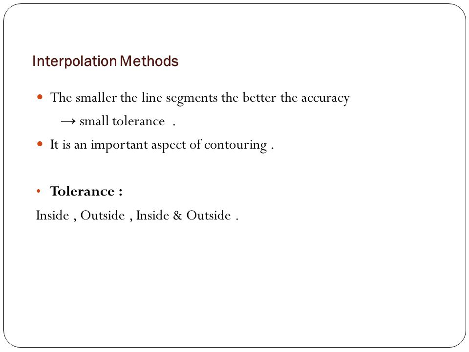 Interpolation Methods