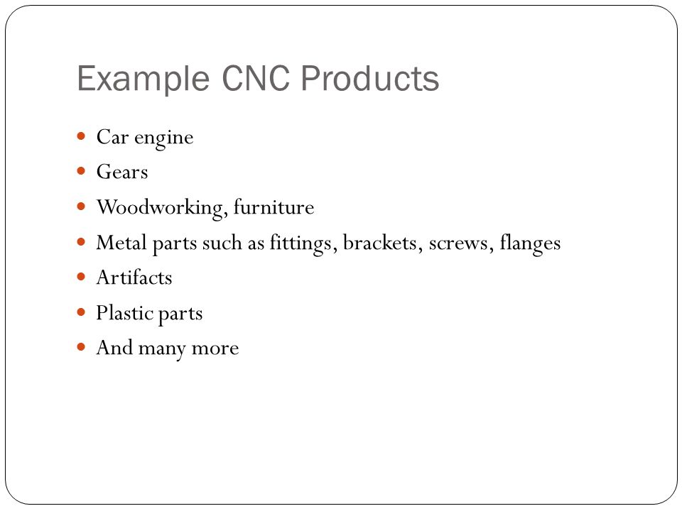Example CNC Products Car engine Gears Woodworking, furniture