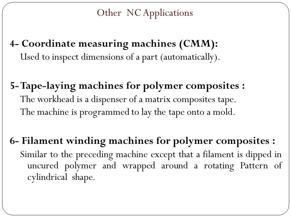 4- Coordinate measuring machines (CMM):