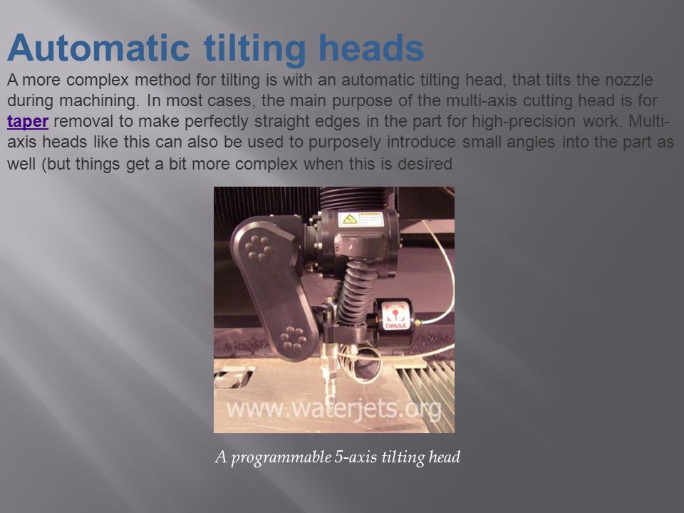 Automatic tilting heads