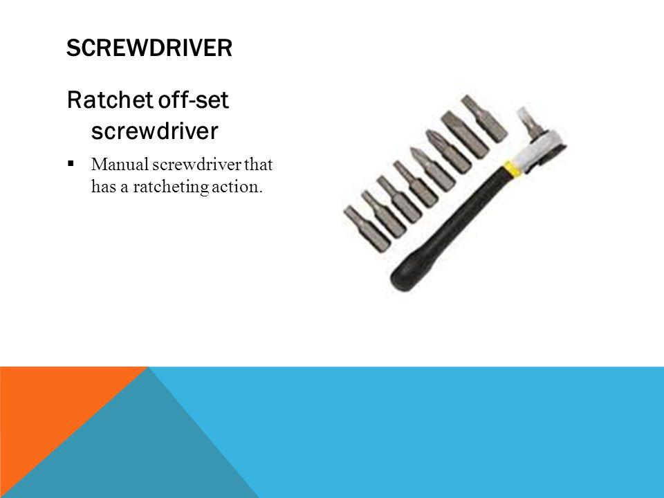 Ratchet off-set screwdriver