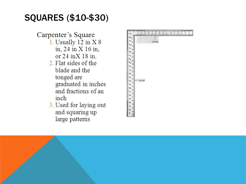 Squares ($10-$30) Carpenter's Square