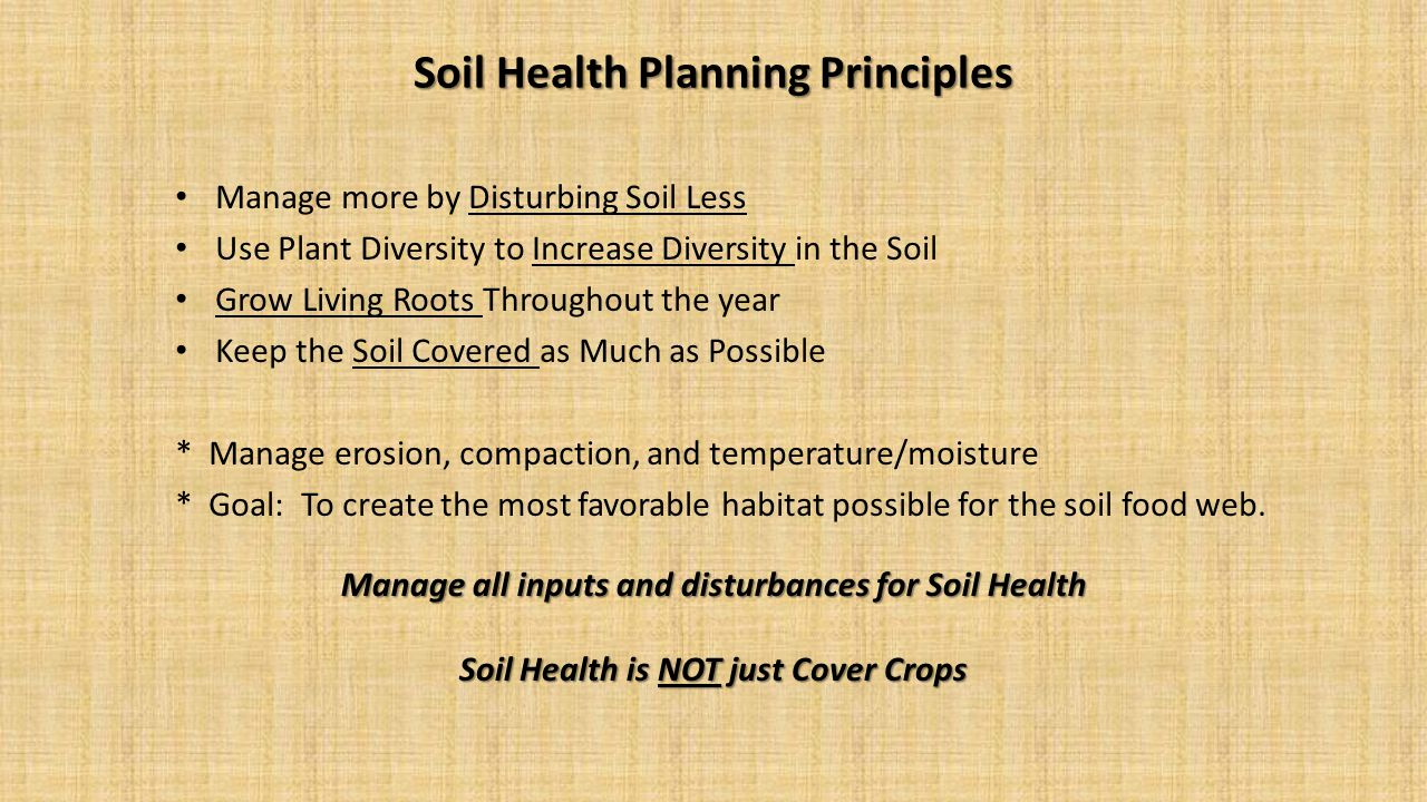 Soil Health Planning Principles