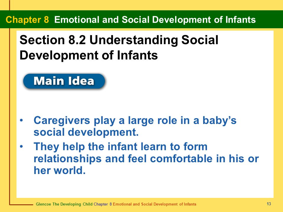 Section 8.2 Understanding Social Development of Infants