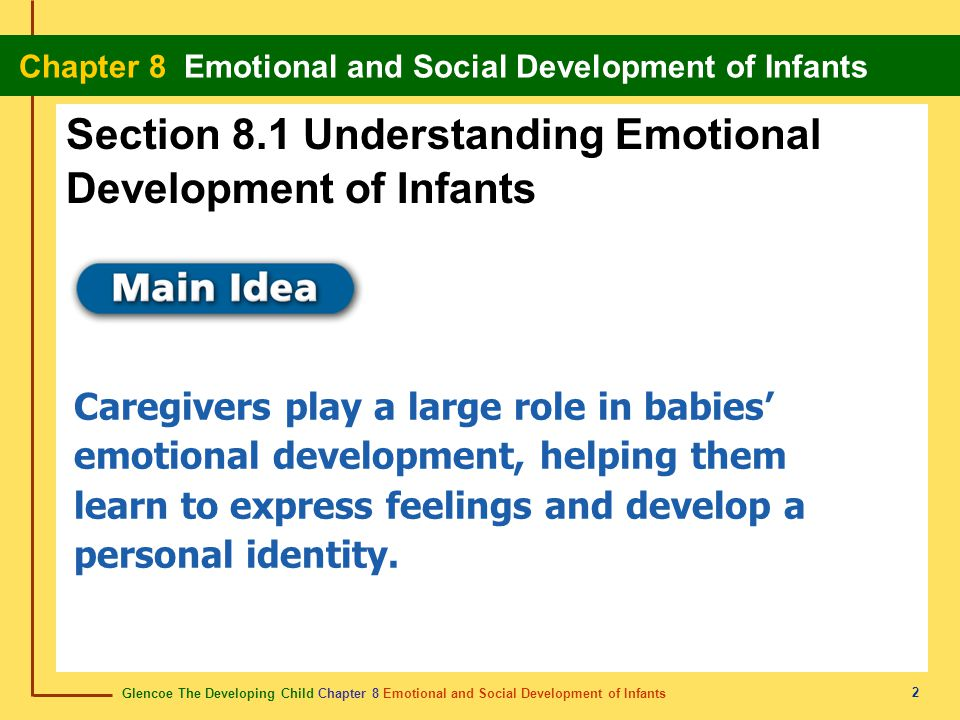 Section 8.1 Understanding Emotional Development of Infants