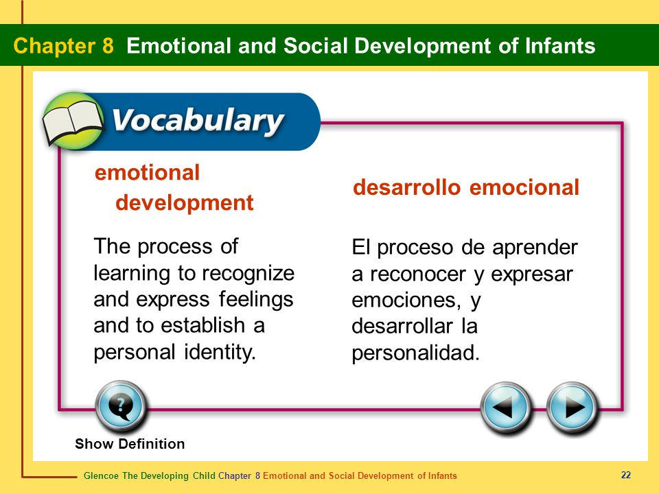 emotional development desarrollo emocional