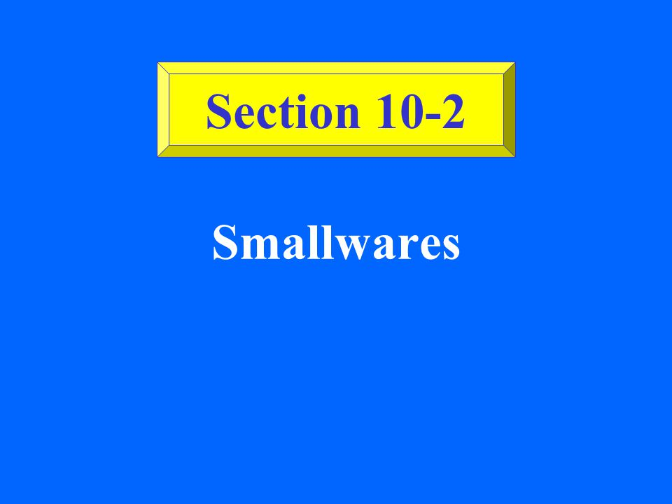 Section 10-2 Smallwares