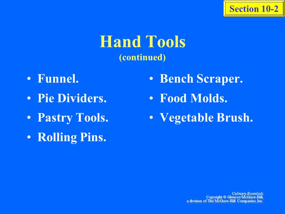 Hand Tools (continued)
