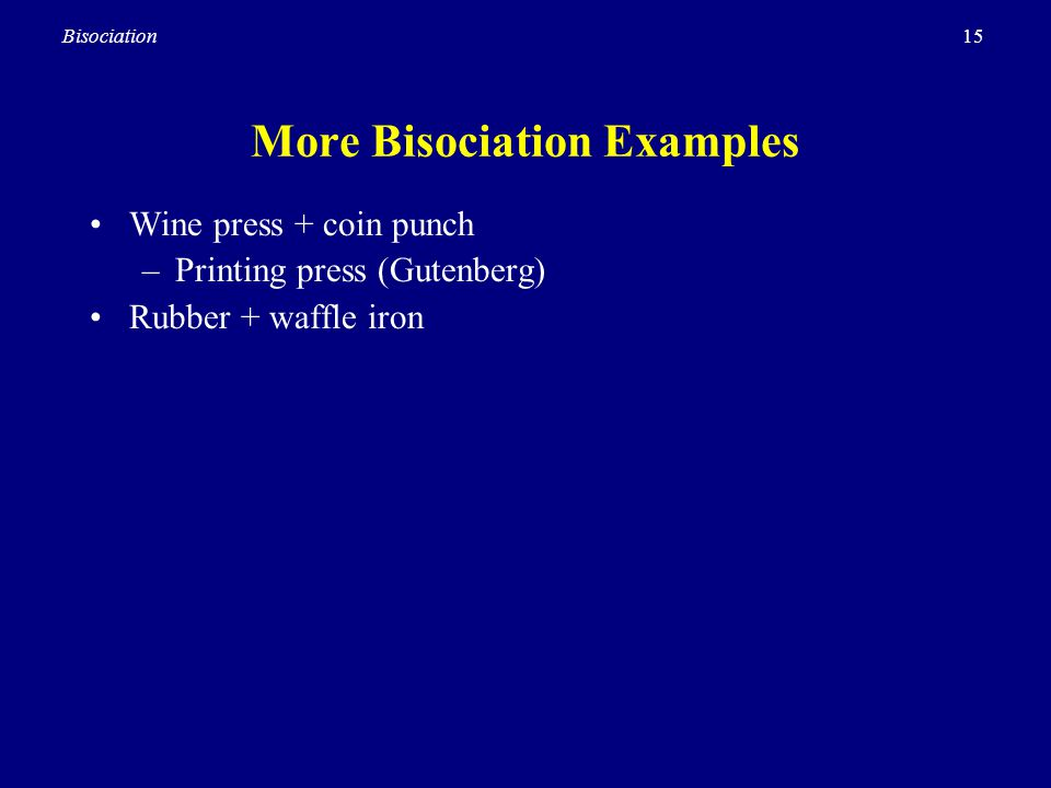 More Bisociation Examples