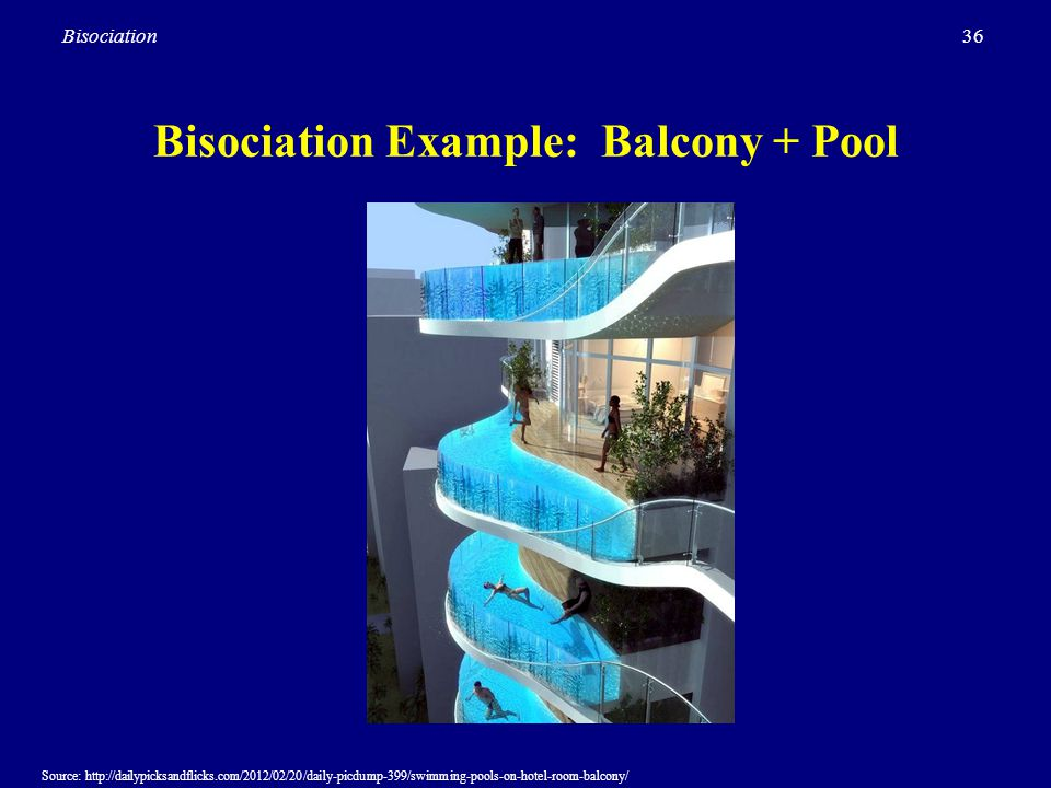 Bisociation Example: Balcony + Pool