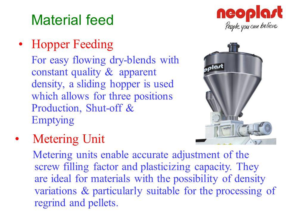 Material feed Hopper Feeding Metering Unit