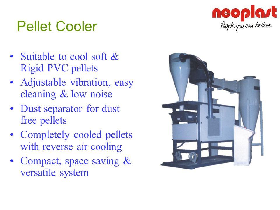 Pellet Cooler Suitable to cool soft & Rigid PVC pellets