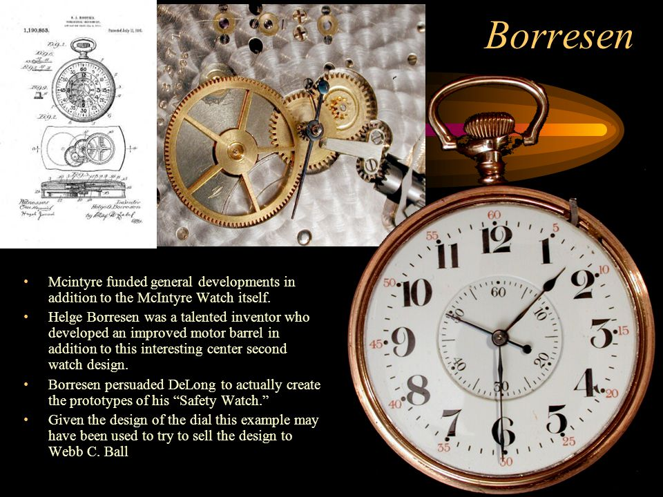 Borresen Mcintyre funded general developments in addition to the McIntyre Watch itself.