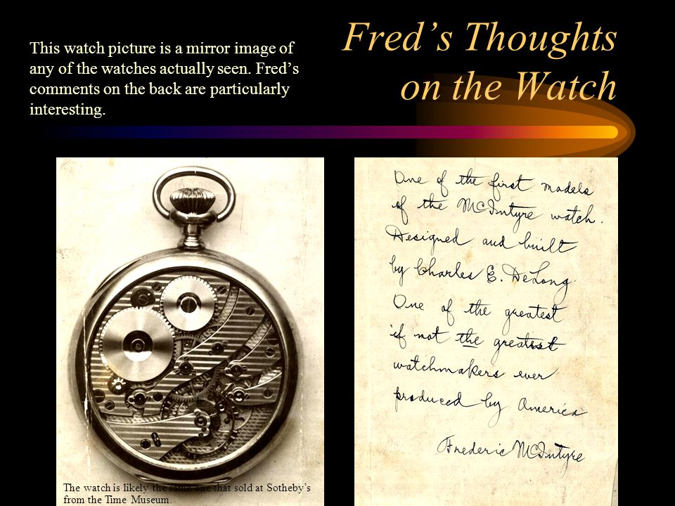 Fred's Thoughts on the Watch