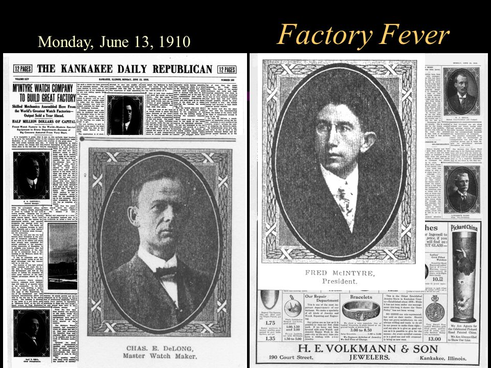 Factory Fever Monday, June 13, 1910