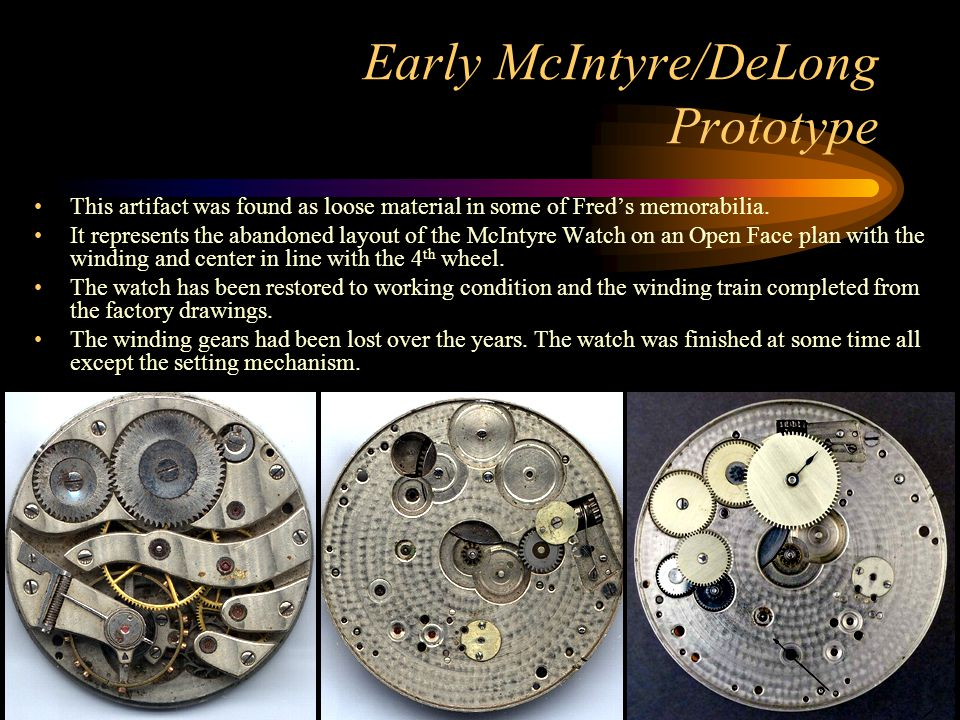 Early McIntyre/DeLong Prototype