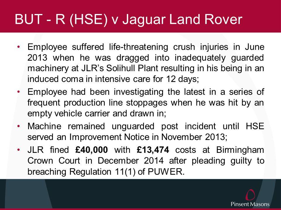 BUT - R (HSE) v Jaguar Land Rover