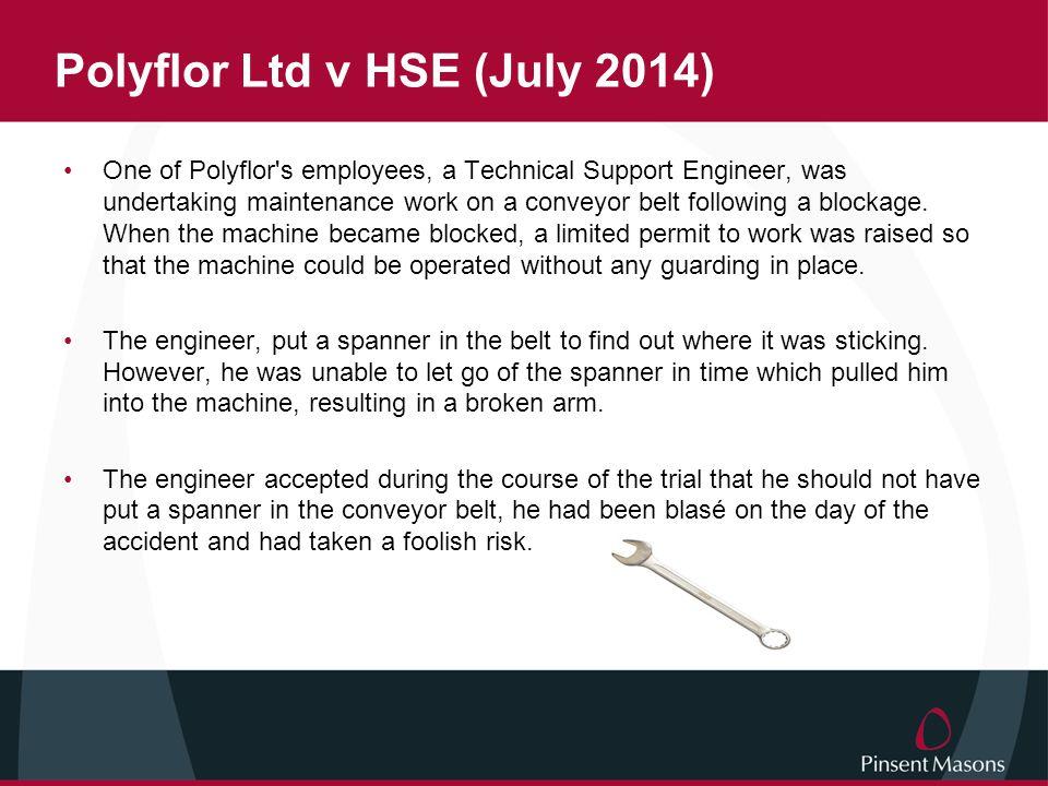 Polyflor Ltd v HSE (July 2014)