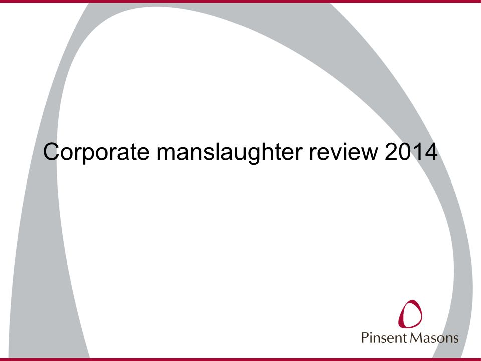Corporate manslaughter review 2014