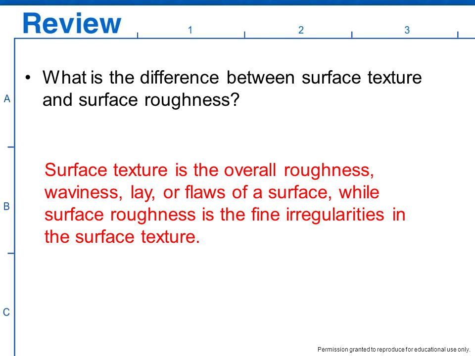What is the difference between surface texture and surface roughness