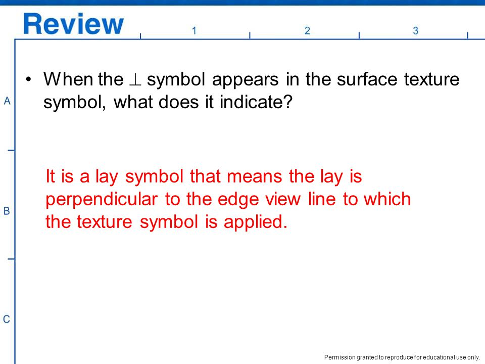 When the  symbol appears in the surface texture symbol, what does it indicate