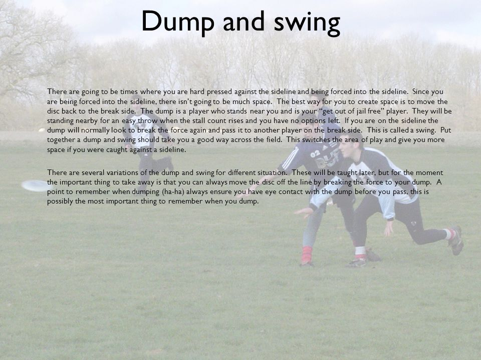 Dump and swing