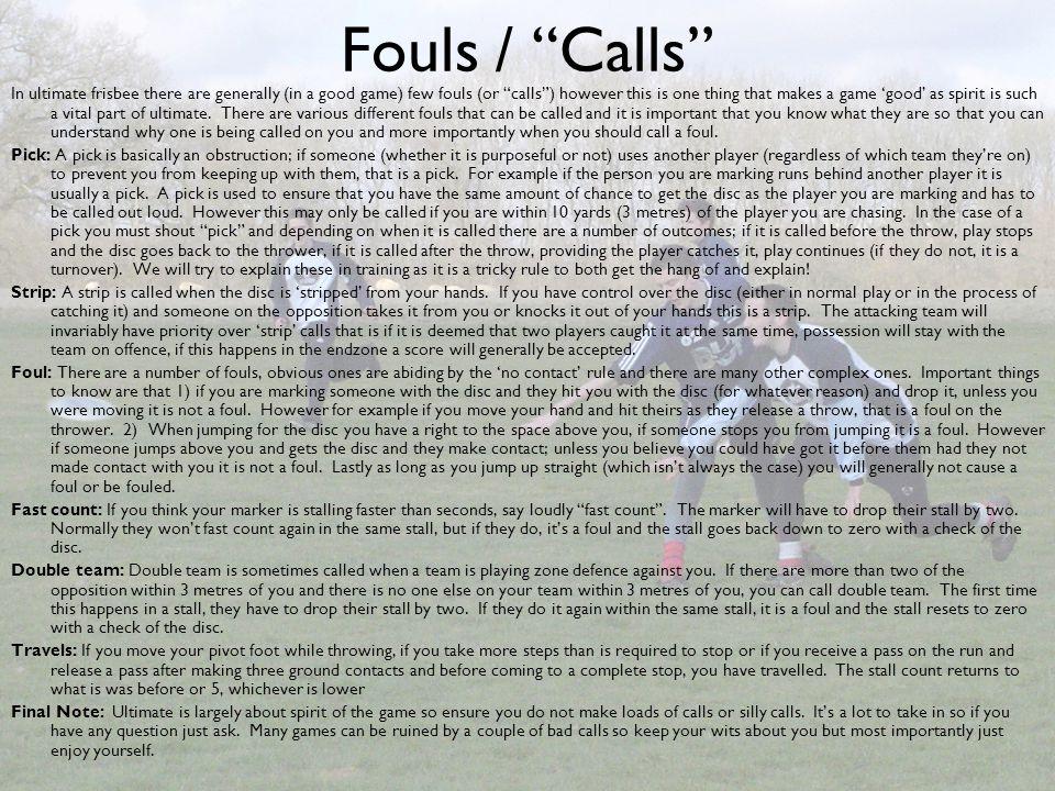 Fouls / Calls