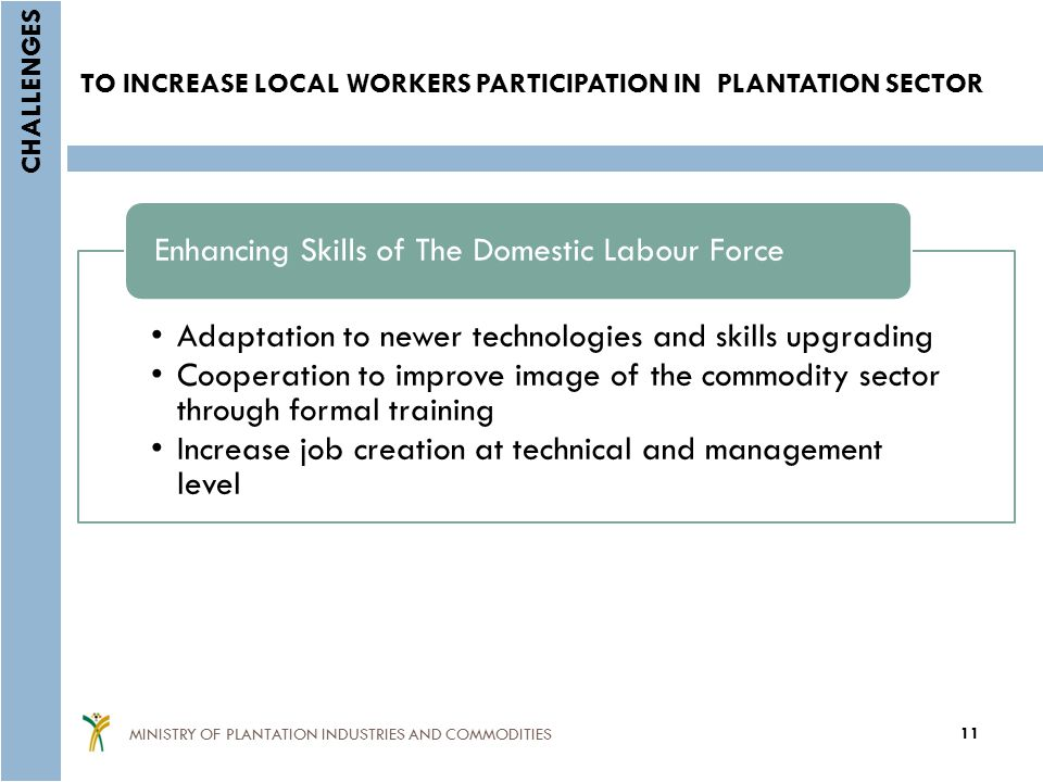 TO INCREASE LOCAL WORKERS PARTICIPATION IN PLANTATION SECTOR
