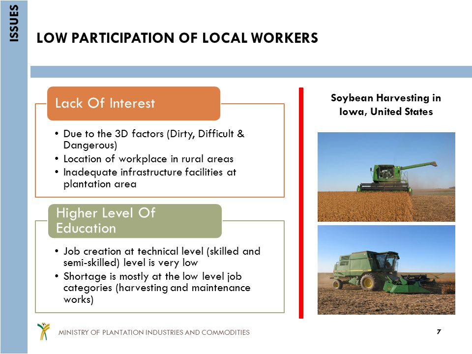 LOW PARTICIPATION OF LOCAL WORKERS