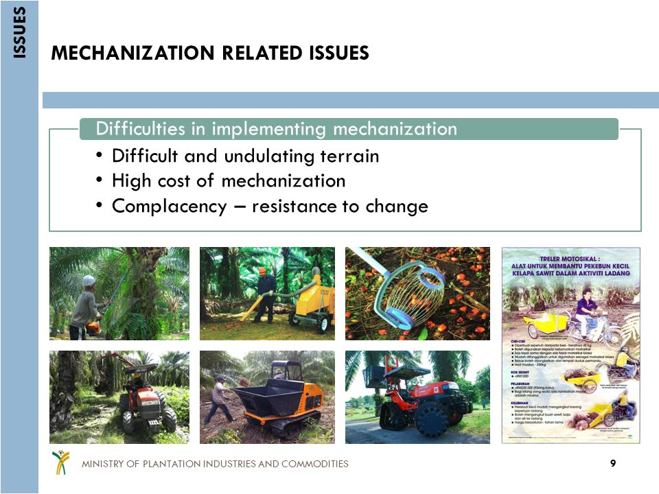 MECHANIZATION RELATED ISSUES